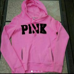 SOLD☆☆☆☆☆Victorias secret hoodie Victorias secret Pink hoodie Size small Pink Worn once PINK Victoria's Secret Jackets & Coats