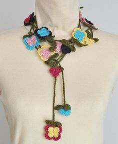 SUMMER COTTON  Multicolor Flowers and Green Leaves by jennysunny, $16.00