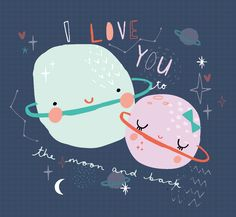 Design by Lucia at Bettyjoy Design Studio #valentines #planets #love