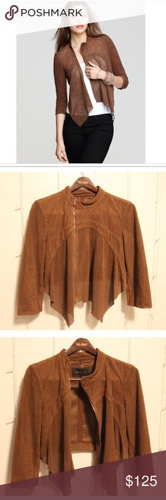 BCBG cropped suede jacket Style: Bri  Color: Toffee Only wore out to one dinner! Can be dressed up or down BCBGMaxAzria Jackets & Coats Utility Jackets