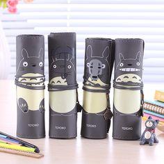 Cheap Mi vecino Totoro Totoro lindo de cuero de la PU rollo bolso del lápiz y caso Anime japonesa de dibujos animados de gran capacidad de almacenamiento cilíndrico bolsa, Compro Calidad Estuches de Lápices directamente de los surtidores de China:        Mi Vecino Totoro lindo de cuero de la PU rollo lápiz bolsa & Case japonesa de dibujos animados Anime de gran