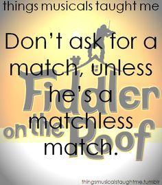 israel matchmaker lyrics