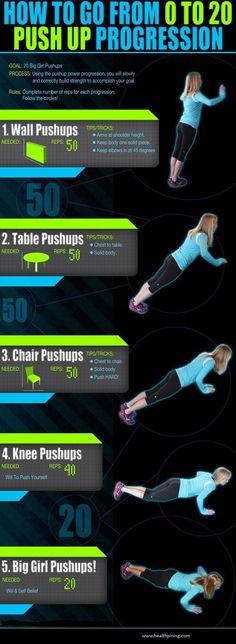 Fitness Exercise - 20 big girls push-ups
