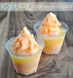 COPYCAT RECIPE   Dole Whip Float from Disney World's Aloha Isle Snack Hut.   I will use the soft serve machine to make these some day, hopefullt this summer.  Ronda F.