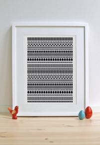 Muovo posters are printed on 100 % recycled heavy weight paper in Finland. Frame it or hang it on your wall as it is!