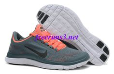 1hR86p Womens Nike Free 3.0 V5 Armory Slate Black Atomic Pink White Running Shoes