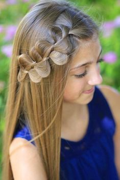 Rick Rack Braid ❤️ We all know that over time, your kiddo gets bored with those ponytails and braids she wears every day. Let us respect her sense of fashion and vary her styling routine. See our picture gallery. ❤️ See more: http://lovehairstyles.com/cute-girls-hairstyles/ #lovehairstyles #hair #hairstyles #haircuts  #braids #braidedhairstyles