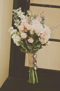 rustic pink wedding bouquet