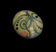 Hand Painted Design Rock