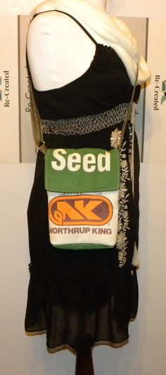 Vintage 1960's Northrup King small seed bag upcycled by LoriesBags