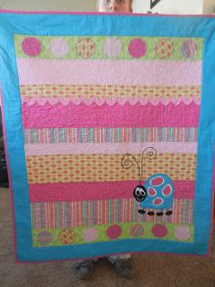Cute Ladybug baby quilt