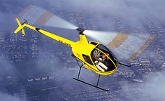 Hubs says this is the most popular helicopter.  Robinson Helicopter R22 Beta II