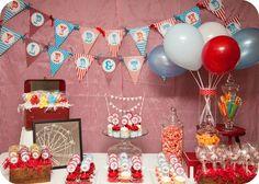Photo 1 of 9: Carnival/Circus / Birthday Vintage Carnival/circus birthday | Catch My Party