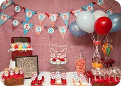 "Photo 9 of 9: Carnival/Circus / Birthday ""Vintage Carnival/circus birthday"" 