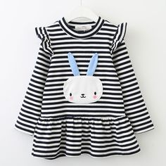 Autumn Girls Clothes Long Sleeve Cute Rabbit Lace Strip Design Girls Children Clothing Oh Yeah Visit our store