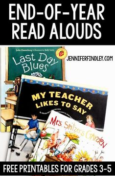 End of Year Read Alouds for Grade - End-of-year read alouds for grades Read more about these read alouds that are perfect for the end of the year and grab free printables! End Of Year Activities, Reading Activities, Teaching Reading, Teaching Ideas, 5th Grade Ela, 5th Grade Reading, Third Grade, Fourth Grade, Grade 3