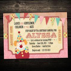 carnival birthday invitations - Google Search