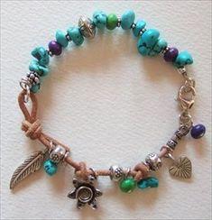 Kingman Turquoise and Thai Hill  Tribe silver bracelet