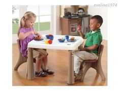 Step2 Table and Chairs Set(Tan) Childu0027s Kitchen-Dining Room Furniture Two Person #Step2  sc 1 st  Pinterest & Step2 Lifestyle Kitchen Table and Chair Set - Step2 - Toys