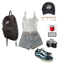 """""""Untitled #55"""" by vivi-g6 on Polyvore featuring American Apparel, Vans, Persol and JanSport"""