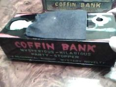 Throwback Thursday: the novelty coffin bank! | Eric Robert Nolan, Author