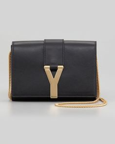 Saint Laurent Mini Y Ligne Pochette Crossbody Bag, Black
