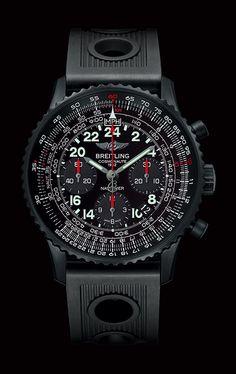 Intersidereal darkness Breitling the Navitimer Cosmonaute Blacksteel (PR/Pics/Watch http://watchmobile7.com/data/News/2013/08/130820-breitling-NAVITIMER_COSMONAUTE_BLACKSTEEL.html) (3/3) #watches #breitling @Breitling