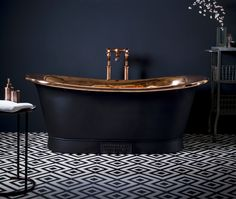 Happy Halloween! Combine the Catchpole & Rye Copper Bateau with a charcoal exterior for sophisticated-yet-spooky décor: