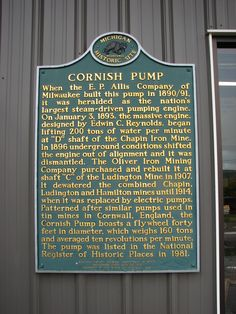 Cornish Pump Mine Museum,Iron Mountain Michigan