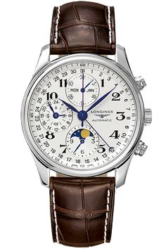 Longines Master Moonphase - The Longines Master collection is the perfect example of unequaled quality, versatility, and style for both men and women. This timeless watch holds an automatic movement and an intricate moonphase complication.
