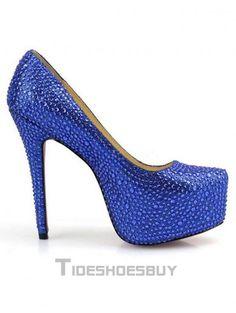 f46a59f15679b Glittery Rhinestone Sheepskin Platform Heels - Platform Pumps - Pumps -  Shoes