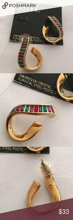 Vintage ⭐️ Savvy by Swarovski crystal earrings Vintage Swarovski crystal earrings with surgical steel posts.  Never worn  excellent condition. Swarovski Jewelry Earrings