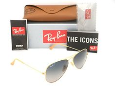 1New AuthenticRAY-BAN Sunglasses RB3025 001/78 58mm (Made In Italy) Made In : ITALY Frame Color : 001 Gold Brand : Ray Ban Gender : Unisex Style : #Aviator Condi...
