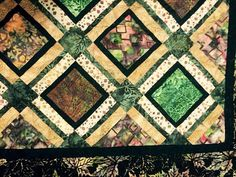 Earth Tone Quilt Throw sized batik quilt by DowneastTraditions