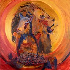 Unity, Lion of Judah and Lamb circled by son.