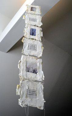 "Bridgette Guerzon Mills, bgmills_spirits ""Spirit"" - artist book, encaustic, plaster, paper, thread, 2010"