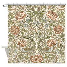 William Morris Rose Shower Curtain