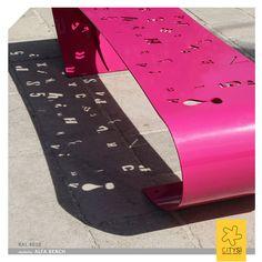 Backless steel Bench ALFA BENCH by CITYSì