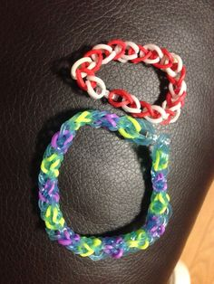 Loombands (basic and inverted fishtail)