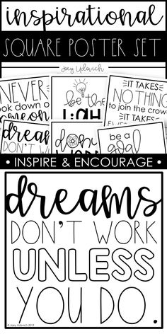 Inspirational Quotes: Square Printables Cassie Harville Cassie Harville Inspirational Quotes: Square Printables – Inspire your students to be kind, try … Inspirational Bulletin Boards, Inspirational Quotes For Students, Inspirational Posters, Elementary Bulletin Boards, Elementary Schools, Bulletin Board Ideas Middle School, Hallway Bulletin Boards, Class Quotes, Education Quotes