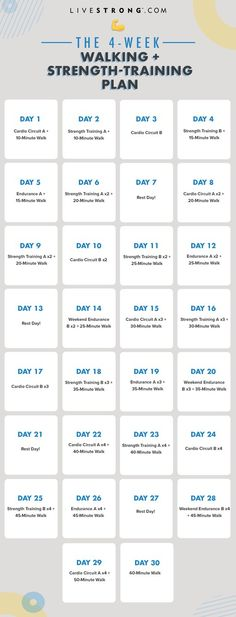 Try This 4-Week Walking + Strength-Training Plan for More Endurance   Livestrong.com