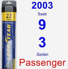 Passenger Wiper Blade for 2003 Saab 9-3 - Assurance