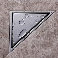 $43.10 Total Triangle-Wall-Corner-Stainless-Steel-Floor-Drain-Shower-Grate-Water-Waste-Drain