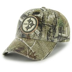 Men's '47 Brand Pittsburgh Steelers Real Tree Clean Up Adjustable Slouch Hat - NFLShop.com