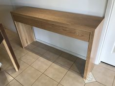 American Oak hall table with push to open drawers