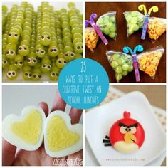 25 Ways to Put a Creative Twist on School Lunches.