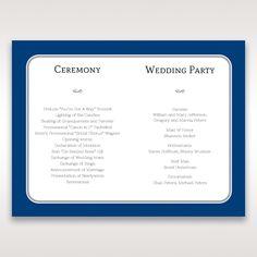 Blue Seaside Romance - Order of Service - Wedding Stationery - 14