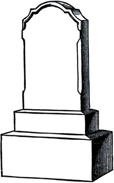 Free Vintage Gravestone Clip Art from The Graphics Fairy