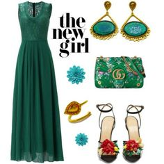 🌿Look how beautifully you can combine these elegant earrings from our jewellery collection. Emerald color is always a great choice to attract the attention.. This outfit is great for a glamorous party or an event🌿