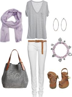 """""""Lavender and Gray"""" by bluehydrangea on Polyvore"""
